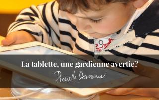 utilisation technologie chez nos enfants