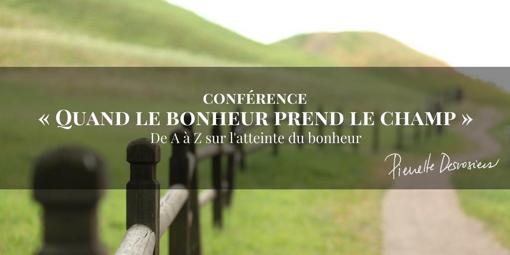 conference bonheur champ